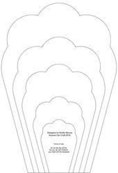 Best 12 SALE – Large Wavy Rose #36 DIY Template …