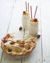 Strawberry Peach Pie Milkshakes von www.whatsgabycook … (@Whatsgabycookin) mad …   – Beverages