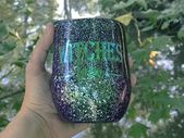 Witches Brew Tumbler, Glitter Dipped Cup, Glitter Halloween tumbler, Stainless S…   – Products
