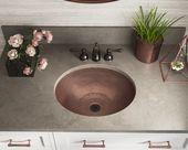 Single Bowl Oval Copper Sink