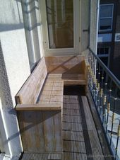 kleine eckbank für balkon – Wibke van der Linde-Behrend – Diy – Kleiner Balkon