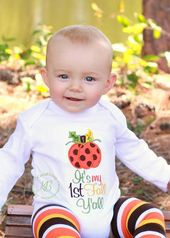 1st Thanksgiving Embroidered Pumpkin Shirt, Baby Boy, Baby Girl, 1st Pumpkin Bodysuit, 1st Fall Y'all, Fall Baby Leg Warmers – Products