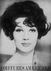 Wonderful late 1950s tousled volume. #hair #vintage #hairstyle #1950s #ad