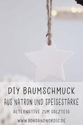 DIY Christbaumschmuck aus Maismehl und Soda   – Weihnachten Ideen für Familien