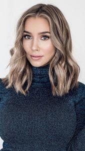 40+ Stilvolle und modische Haarfarben und Frisurenideen