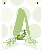 Two Peas in a Pod Printable Baby Shower Banner, Twins Baby Shower Sign