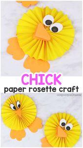 Pochette Rosette En Papier – Craft Facile En Papier De Pâques