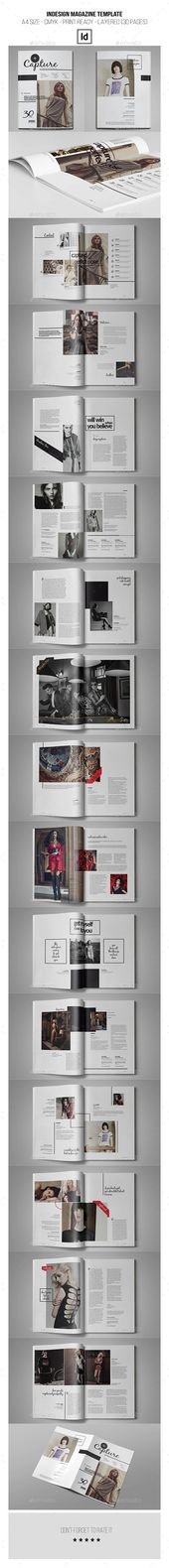 Plantilla de revista InDesign 30 páginas #AD #Magazine, #AFF, #InDesign, #Template,    – Logo Templates Design