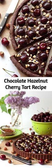 Chocolate Hazelnut Cherry Tart Recipe – Biting into this delicious tart makes me…