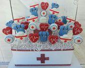 Nurse Appreciation Cake Pops 12 Pops von TheMaDCakePopShop   – Fondant Torten – Figuren