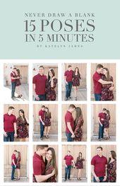 Paarfotoshooting Hochzeitsfotoshooting: 15 tolle Posen in 5 Minuten! Schon einma… – HOCHZEIT