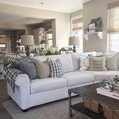 46 besten Wohnzimmer-Dekor-Ideen mit Bauernhaus-Stil #Livingroom #Livingroomdeco …, #Bauer…