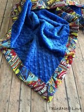 A Marvel baby blanket.  – Furniture And Decor