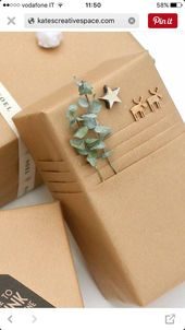 Beautifully pack gifts with Kraft paper