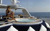 Luxury yacht CALAF – spa pool pool and girl
