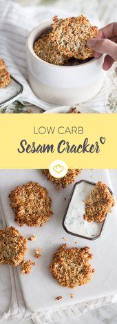 Powersnack: kohlenhydratarme Sesamcracker mit Haselnüssen