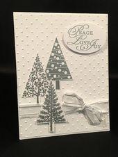 Photo of Stampin up Festival der Bäume handgemachte Weihnachtskarte ~ Set von 8; Weihnachtskarten, Frohe Weihnachten –