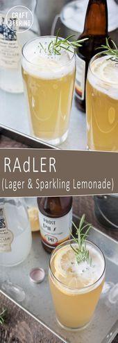 Radler Recipe (Bavarian Beer & Lemonade Cocktail  #Bavarian #Beer #Cocktail #Le …