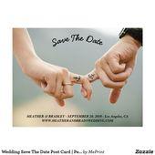 Wedding Save the Date Postkarte | Zazzle – Tattoos