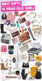 Tons of great gift ideas for 15-year-old teenage girls. #Christmas gifts #Birthday gifts