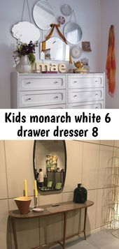 Kids monarch white 6 drawer dresser 8