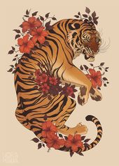 Animal poster commission, this time the coolest big cat in the world!   EDIT: Th… – Tattoo
