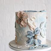 """Buttercream Floral Art"". #sweetbloomcakes #edibleart #designercake #mood … – #Art #butter …   – Cake Decorating Simple Ideen"