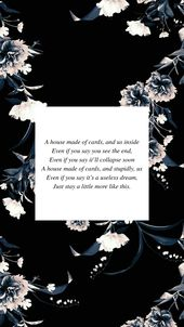 Bts House Of Cards Lyrics Wallpaper Floral Bts Houseofcards Lyrics Wallpaper Floral Bts Lyrics Quotes Bts Lyric Bts Quotes