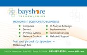 Bayshore Technologies' layout is one that expresses professionalism
