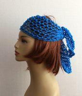 Hippie Headband Crochet Women Hair Wrap Boho Headband, Hair Accessories, Hair Wrap, Yoga, Beach, Gypsy Spirit, Bandana, Wrap – headbands