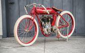 Download Hintergrundbilder Indian 1911, Retro-Motorrad, Rarität, rotes altes Motorrad, amerikanische Marke, Indianer   – Motorcycles Wallpapers