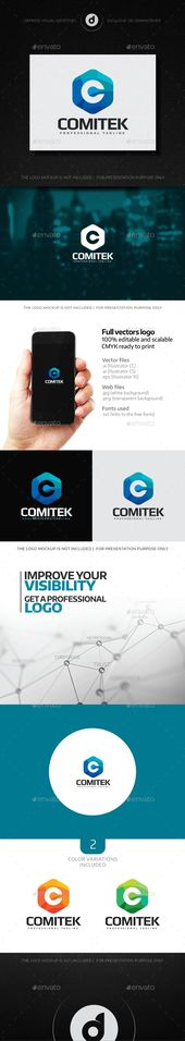 Logotipo de Comitek – Vector EPS #profesional #letter C • Disponible aquí → gráfico …   – Graphic design
