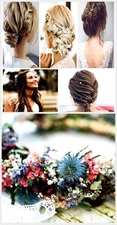 Wedding hairstyles ♥ If you have not yet decided on a wedding hairstyle …