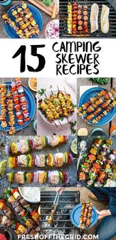 15 Grilled Kabob Recipes to Make Over Your Campfire