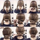 Schnelle und einfache Hochsteckfrisuren für langes Haar #flechtfrisuren #ungewa… – Neue Besten Haare Frisuren ideen 2019