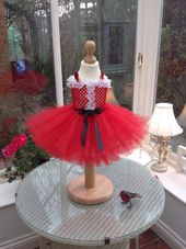 Baby First Christmas tutu dress, Santa Claus, Father Christmas Dress. Great for Valentines Day – Products