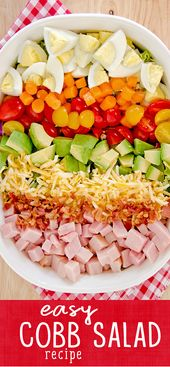A Cobb Salad is a fantastic light and easy summer meal. This Cobb Salad recipe i… – Recipes – Scattered Thoughts of a Crafty Mom
