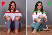 Runde Frauen: 4 entschlüsselte Foto-Posen, um zu lernen, wie man eine Silhouett