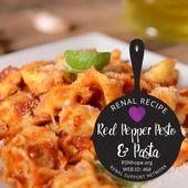 Gebratener roter Pfeffer Pesto   – Renal Recipes