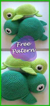 DIY – Anleitung für gehäkelte Schildkröte Amigurumi Free Pattern Tutorial, #amigurumi #anleit…