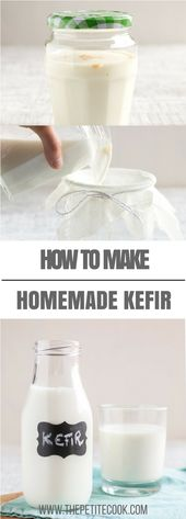 Homemade Milk Kefir is super easy to make and full of good-for-you probiotics. D…   – Healthy Food Tips & Smoothies