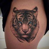 Großartiger Tiger auf einer Tätowierung: Pläne, Skizzen, Bedeutung – tattoo modelle