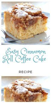 Pastel de café con rollo de canela fácil   – Desserts!