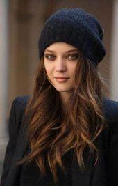 51+ Ideen Haarfarbe Ideen für Brünette Grün Karamell Highlights #Haar #Winterh …