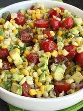 Avocado Corn Tomato Salad | Side Dish | Avocado | Healthy Recipe | Avocado Corn …