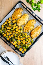 Sheet Pan Roasted Brussels Sprouts and Chicken   – Weight Watchers