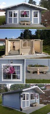 Gartenhaus Nevis 44 ISO: Aufbau und Einrichtung – Haus