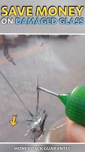 Repariert sofort gesprungenes oder abgebrochenes Glas Glass