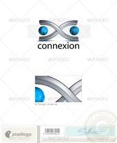 Technology Logo 3D728 — Font #balls #connexion • Available here → graphicriver.net/…
