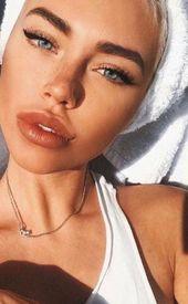 smokey eyes, daring lipstick, and nail artwork. Stunning, pure make-up, make-up concept…